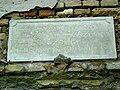 Memorial tablet on the wall of the Roman Catholic church in Srpska Crnja, Vojvodina, Serbia - 20060601.jpg