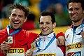 Men pole vault podium Istanbul 2012.jpg
