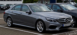 Mercedes-Benz E 250 Avantgarde Sport-Paket AMG (W 212, Facelift) – Frontansicht, 21. September 2013, Ratingen.jpg