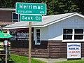 Merrimac Population ^ Sauk County Welcome Sign - panoramio.jpg