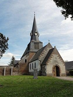 Mesbrecourt-Richecourt (Aisne) église Sainte-Benoîte, extérieur.JPG