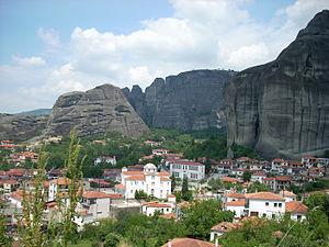 Trikala (regional unit) - View of Meteora from Kastraki
