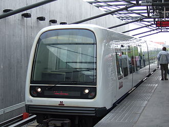 Vanløse Station - Metro train at Vanløse station