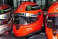 Michael Schumacher 2012 Brazilian GP helmet front-left 2019 Michael Schumacher Private Collection.jpg