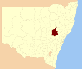 Mid-Western Regional Council - Location in New South Wales