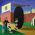 "Mihael Milunovic, ""THE HOLE"", 40x40cm, oil on canvas, 2015.jpg"