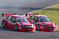 Mikhail Kozlovskiy and James Thompson 2014 WTCC Race of Japan (Race 2).jpg