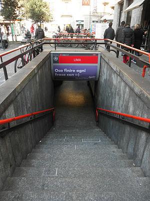 Lima (Milan Metro) - Image: Milano piazza Lima accesso metropolitana