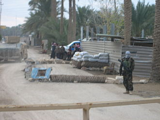 Operation Murfreesboro - Iraqi militia checkpoint in Sofia