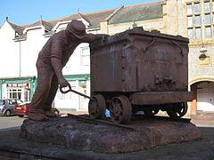Millom - sculpture in Market Place, Millom.JPG