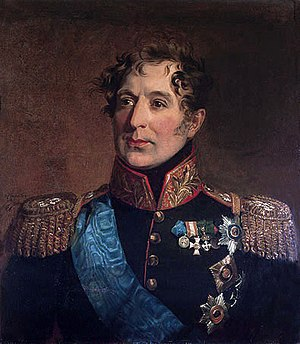 Mikhail Miloradovich - Portrait by George Dawe in the Military Gallery of the Winter Palace