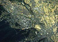 Minamiashigara city center area Aerial photograph.1988.jpg