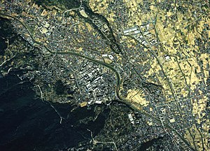Minamiashigara city center area Aerial photograph.1988.jpg