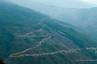 Matupi, Myanmar - Road near Mindat, which lies between Matupi and Pakokku.