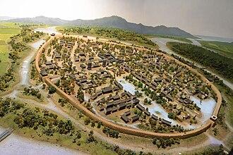 Ningbo Museum - Model of Ningbo city in Tang Dynasty