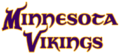 Minnesota Vikings first 2004 wordmark.png