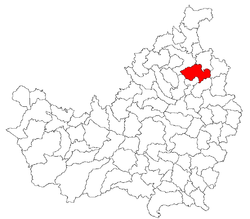 Location of Mintiu Gherlii