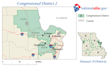 alt=Description de l'image Missouri's 2nd congressional district.png.