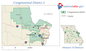 United States House of Representatives elections in Missouri, 2008 - Image: Missouri's 2nd congressional district