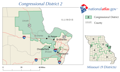 United States House Of Representatives Elections In Missouri - Us house of representatives missouri district map