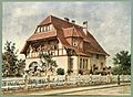 Moderne Villen in Meisteraquarellen Serie II Tafel 023 Darmstadt Villa Am Erlenweg 6.JPG