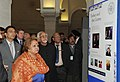 Mohd. Hamid Ansari and his wife Smt. Salma Ansari visited the new building of the Oxford Centre for Islamic Studies, in London. The Minister of State for Human Resource Development, Shri Jitin Prasada is also seen.jpg