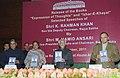 "Mohd. Hamid Ansari releasing the book ""Ezhar-e-Khayal"" (Urdu), written by the Deputy Chairman, Rajya Sabha, Shri K. Rahman Khan, in New Delhi. The Speaker, Lok Sabha.jpg"