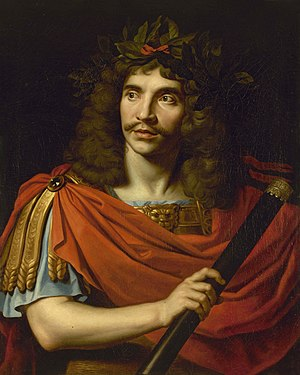 Nicolas Mignard - Molière in the role of Julius Caesar, 1656