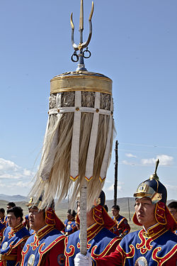 Mongolian state honor guard 2011.jpg