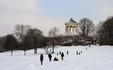English Garden, Munich: Monopteros in winter