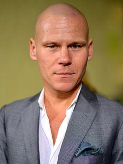 Mons Kallentoft på Rosenbad 2012 for at fremme Sveriges litteratureksport.
