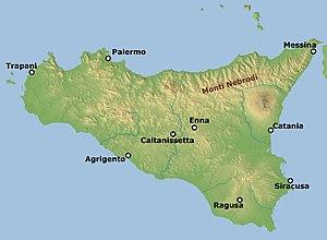 Nebrodi - Image: Monti Nebrodi map bjs