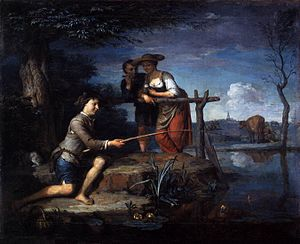 Carel de Moor - The fisher, ca. 1700