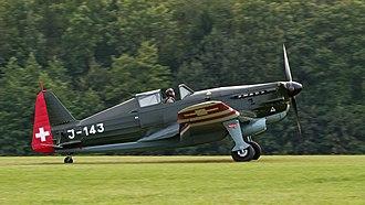 Morane-Saulnier M.S.406 - D-3801, a Swiss development of MS-406