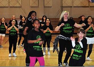 Aerobics - A dance aerobics class