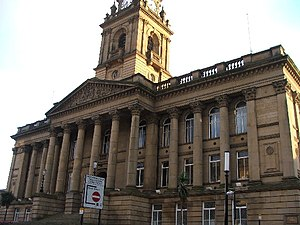 Morley, West Yorkshire - Image: Morley Town Hall