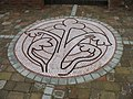 Mosaic of the trefoil flower, the centre piece of the new Parade - geograph.org.uk - 875447.jpg