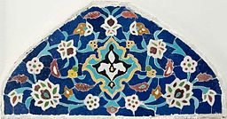 Mosaic panel custom made for Shangri La in 1938-39 at a workshop in Iran