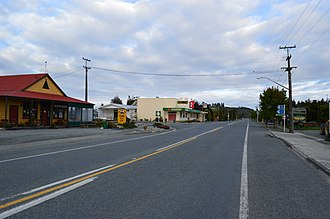 Mossburn - State Highway 94, the main street of Mossburn