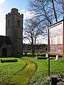 Mossy path to St. Cadwaladr's church, Bishton - geograph.org.uk - 2266770.jpg
