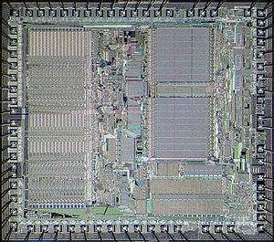 Motorola 68000 - Die of Motorola 68000
