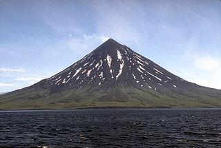 Mount Cleveland (Alaska) Nearly symmetrical stratovolcano on Chuginadak island