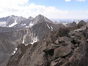 Kings Canyon National Park - Mount Agassiz is located on the Sierra Crest along the eastern edge of the park.