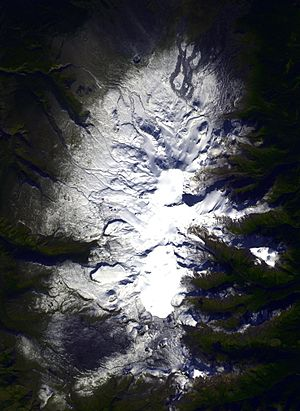 Mount Edziza volcanic complex - Satellite image of Mount Edziza