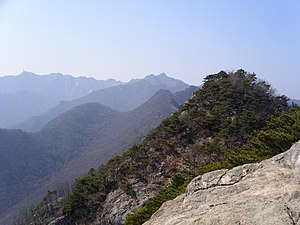 Mount Gyeryong from Jang-gun peak.jpg