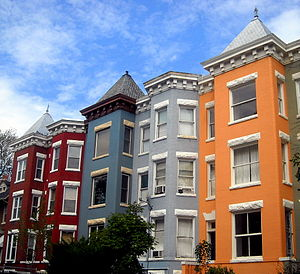 Mount Pleasant, Washington, D.C. - Ornate roof lines of Queen Anne Style row houses in Mount Pleasant – 2008