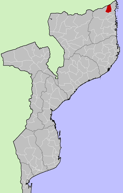 District location in Mozambique