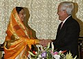 Mr. Le Hoang Quan, Chairman of the People's Committee of Ho Chi Minh City, called on the President, Smt. Pratibha Devisingh Patil at the Reunification Palace in Ho Chi Minh City, Vietnam on November 24. 2008.jpg