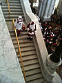 Mr. and Mrs. Santa Claus arrive at the Library of Congress Great Hall, December 2010.jpg