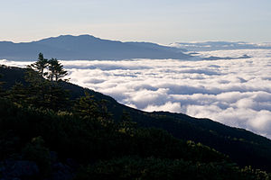Mount Kinpu - Image: Mt.Kimpu from Mt.Amigasa 01